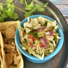 Pico de Gallo with Cabbage  (Mexican Coleslaw) - Pico de gallo with cabbage is a Mexican-inspired slaw that is perfect as a quesadilla-topper, with chips, or as a salad.