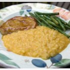 Cheesy Pumpkin Risotto - This risotto dish requires plenty of stirring and patience, but the payoff is a cheesy rice side dish with pumpkin that everyone will love.