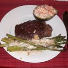 Filet with a Merlot Sauce - Filet Mignon with an excellent Merlot wine sauce.