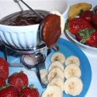 Chocolate Fondue L'Afrique - Enjoy this easy-to-make, elegant chocolate dessert fondue starring South Africa's famous butterscotch-flavored Amarula liqueur that's distilled from the fruit of the amarula or 'elephant tree.'