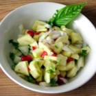 Zucchini Relish - A simple, colorful recipe prepared from fresh garden vegetables.  Goes especially well with salmon.