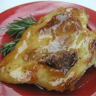 Hawaiian Chicken II - Chicken baked in an ever-popular sweet and sour sauce enhanced with orange juice, sugar and wine.