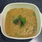 Lebanese-Style Red Lentil Soup - This is a wonderful, tangy, spicy soup that sort of resembles split-pea. I sometimes add grilled chicken breast or cooked and cubed sweet potatoes for texture.  Have fun with it!