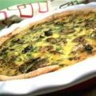 Sausage Mushroom Quiche - One of the best quiches I have ever had. Delicious and filling. Also great for dinner.