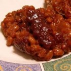 Simple Baked Beans - This baked bean recipe uses canned beans instead of the dry type so it is quick and easy to prepare.