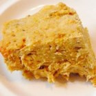 Salmon Loaf - Salmon, cracker crumbs, milk, egg and butter, baked into a loaf.