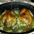 Herb-Roasted Cornish Hens - Cornish game hens coated with fresh herbs are roasted in a white wine sauce creating a fancy meal sure to impress your guests.