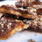 Chocolate Brittle Surprise - Like chocolate-covered toffee! Disappears like magic! Great for holiday parties, gifts!