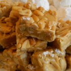 Salted Nut Roll Squares - No-bake salted nut roll squares are a delicious and easy to make treat with just 5 ingredients; make them as holiday gifts!
