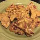 Microwave Bacon Brittle - Bacon brittle with pecans is a tasty treat for lovers of the candy, but also makes a great food gift if you can keep from eating it.