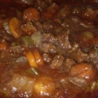 5 Hour Beef Stew - You don't need a slow cooker to cook slow. This beef stew with carrot, celery, and potato is done in the oven for five hours.