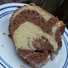 German Marble Cake - This is a lovely cake with the taste of almond and chocolate and it is almost like a pound cake.