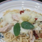 Cauliflower Fettuccine Alfredo - Fettuccine Alfredo made with a cauliflower-based sauce instead of cream is a lighter version of the classic Italian-inspired meal.