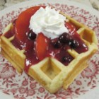 Buttermilk Waffles - Grandma's buttermilk waffle recipe is quick and easy to prepare; top with your favorite waffle toppings.