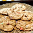 Fluffy Chocolate M&M(TM) Cookies - Big fluffy chocolate cookies with peanut butter M&M(TM)'s in them.