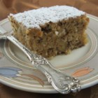Walnut-Coconut-Applesauce Coffee Cake - Applesauce makes this recipe for walnut-coconut coffee cake a little bit lower in fat while maintaining all the great flavor.