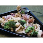 Broccoli and Tortellini Salad - Broccoli keeps very good company in this wonderful salad. There's fresh cheese tortellini, bacon, raisins, sunflower seeds, broccoli florets, red onion, and a sweet and sour mayonnaise dressing tossed in for good measure.