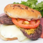 Supa-Dupa Egg Sandwich - This is a hamburger sandwich made with fried egg, ham, and mozzarella.  Easy, good tasting, kind of wet.  Delicious!