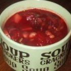 Rye Borscht - The nutty flavor of whole rye goes well with white beans, cabbage, beets, and other vegetables in this filling soup.