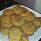 Pecan Cookies - These pecan cookies are sweetened with sugar replacements.