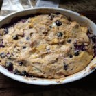 Berry Good French Toast Bake - This recipe for French toast casserole is topped with blueberries, pecans, and cream cheese.