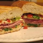 Italian Subs - Restaurant Style - This is a classic Italian sub sandwich with three kinds of meat and provolone cheese. The kind you get in a mom and pop pizza joint.  You'll be glad you tried it!
