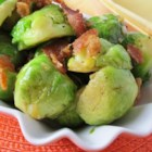 Sauteed Brussels Sprouts with Bacon and Onions - Sauteed Brussels sprouts with bacon and onions is a quick and easy weeknight side dish, but fancy enough for dinner parties.