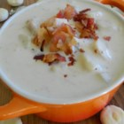 New England Razor Clam Chowder - Bacon, potatoes, and clams in a creamy chowder makes a hearty and delicious meal.