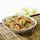 NO YOLKS(R) Asian Fried Noodles - Faster than ordering in, this Asian noodle stir-fry can be made in minutes and served with chicken, pork or fish.