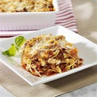 NO YOLKS(R) Cheater Lasagne - This make-ahead casserole has the same appeal as traditional lasagne, but is much less fussy to make. Serve with a leafy green salad and garlic bread to feed a hungry crowd.