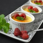 Eggnog Creme Brulee - Creme brulee made with holiday eggnog in its custard mixture turns a delectable dessert into one that's sublime. The eggnog custard can also be used with a prepared pie crust to make a pie.