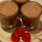 Chocolate Covered Cherry Shooters - Amaretto, chocolate syrup, grenadine syrup, and cream -- a perfect Valentine's cocktail.