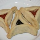 Hamantashen - These are the easiest hamantashen I've ever made! They are a bit sweet, roll out easily and are consumed quickly! My kids don't want to give them to their friends! Traditional fillings are prune and poppy seed. You can use any canned pie filling, whole fruit jelly, chocolate chips, or any type filling your family likes! Be creative with these- we put mini chocolate chips in the dough!