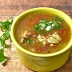 Tim's Turkey Tortilla Soup - Quick and easy turkey tortilla soup is ready in under an hour using picante sauce, lime juice, and cilantro for a tangy and flavorful meal.