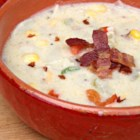 Potato Bacon Corn Chowder - Warm yourself and your family with a bowl of creamy potato, bacon, and corn chowder on cold weeknights.