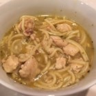 Chicken Noodle Soup I - Broken spaghetti noodles are added to this basic chicken soup seasoned with fresh garlic and chopped onion.
