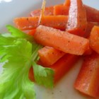 Candied Carrots - Sliced carrots are glazed in a buttery brown sugar sauce for a colorful, crowd-pleasing side dish.