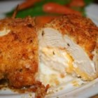 Garlic-Lemon Double Stuffed Chicken - Chicken breasts stuffed with Cheddar and cream cheeses, then drenched with a garlic-lemon-butter sauce. Sure to become a family favorite.