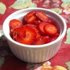 Simple Strawberry Sauce - Sugar pulls the juice out of the berries, making a bright and sweet sauce. Enjoy it with shortbread, angel food cake, pancakes, or just to eat on its own with yogurt or whipped cream.