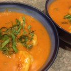Spicy Coconut Shrimp Bisque - This smooth, spicy shrimp bisque uses coconut milk to offset its heat.