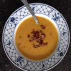 Savory Roasted Butternut Squash Soup - This savory butternut squash soup is hearty with just the right amount of kick from cayenne pepper.