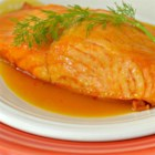 Orange Salmon II - This quick and easy salmon recipe has only three ingredients: salmon, orange juice, and fresh dill. I learned this recipe from my mother, and it is one of my husband's favorites.