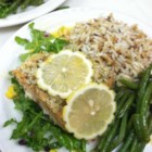 Lemon Panko Crusted Salmon - Seasoned panko bread crumbs give salmon fillets a crunchy crust in this easy and elegant dinner.