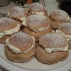 Semlor (Semla)  - These Swedish marzipan and whipped cream filled cardamom buns are traditionally served on Fat Tuesday. Nowadays they are happily eaten as often as they can be found. We love that these are not too sweet, and are just big enough.