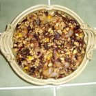 Harvest Rice Dish - A variation of a basic rice recipe for the holidays.