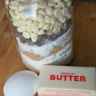 The Cookie Jar - Give the gift of cookie making supplies when you mix all the dry ingredients together in a jar with a tag saying: Add 1 stick of butter and 1 egg; mix and bake at 375 degrees F (190 degrees C) for 10 minutes.