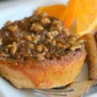 Orange Pecan French Toast - A simple baked French toast that won't have you slaving over a hot stove. An orange batter and caramel pecan coating make this baked French toast so delicious, you won't need any syrup.