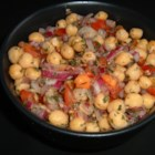 Photo of: Chickpea Salad with Red Onion and Tomato - Recipe of the Day