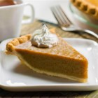 Apple Butter Custard Pie - This creamy custard pie with flavors of apple and cinnamon makes an elegant dessert for holidays or any special occasion.