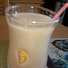Peachy Keen Smoothie - I invented this recipe when I started running out of smoothie components.  I think it tastes like a cross between peaches and cream, and egg nog (there are no eggs in it though).  The oats and/or wheat germ can be omitted for a smoother smoothie.